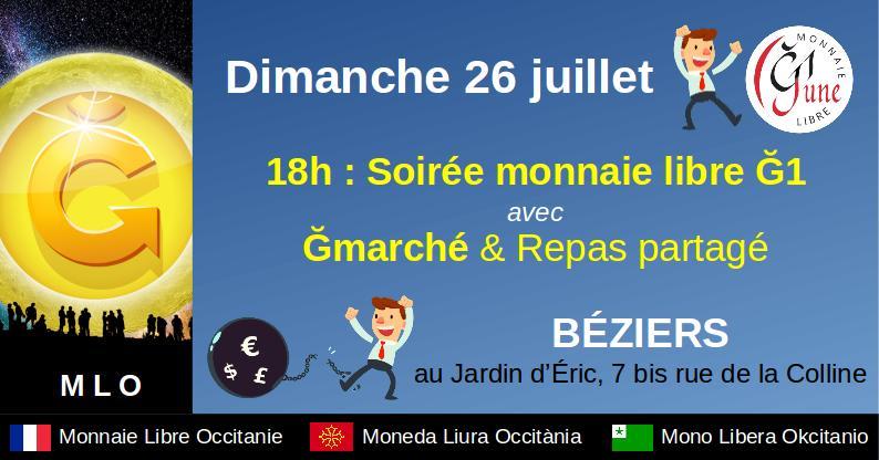 Soirée Monnaie Libre à Béziers