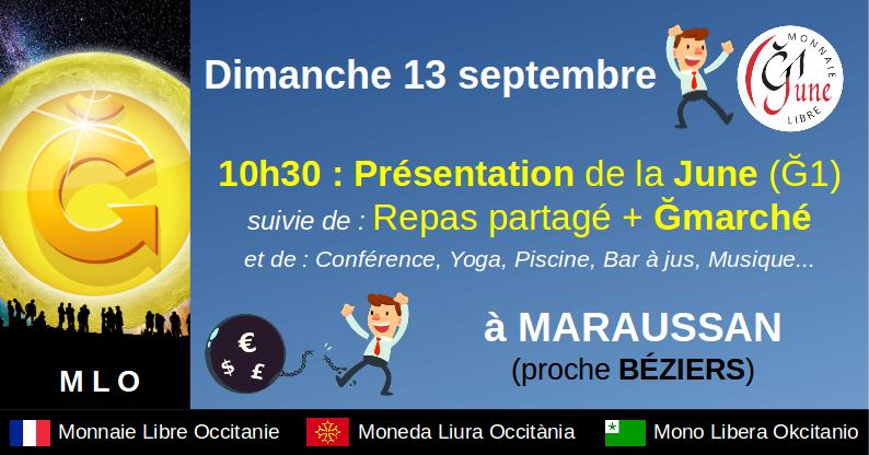Marché Monnaie Libre à Maraussan (proche Béziers)