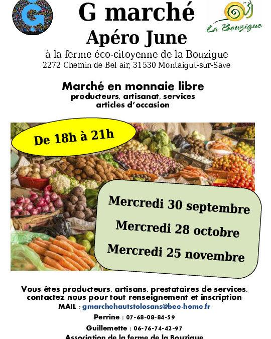 G Marché / Apéro mensuel de la ferme de la Bouzigue