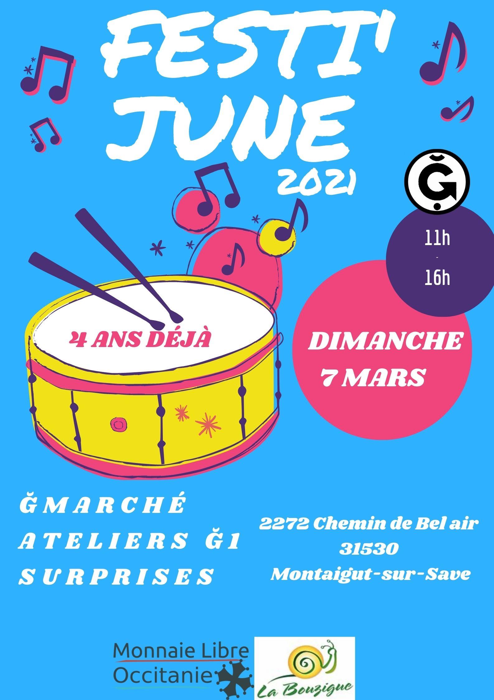 FESTI'JUNE 2021 à la Ferme de la Bouzigue