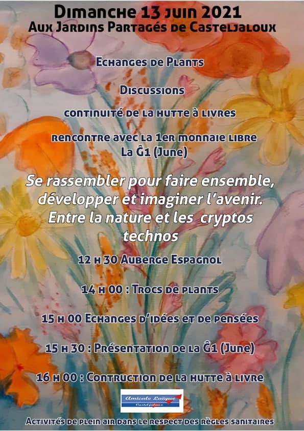 Après-midi monnaie libre dans les jardins partagés de Casteljaloux (47)