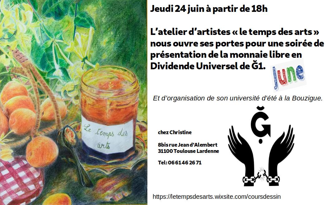 """Rencontre avec la Ğ1 dans l'Atelier """"le temps des arts"""" de Toulouse Lardenne"""